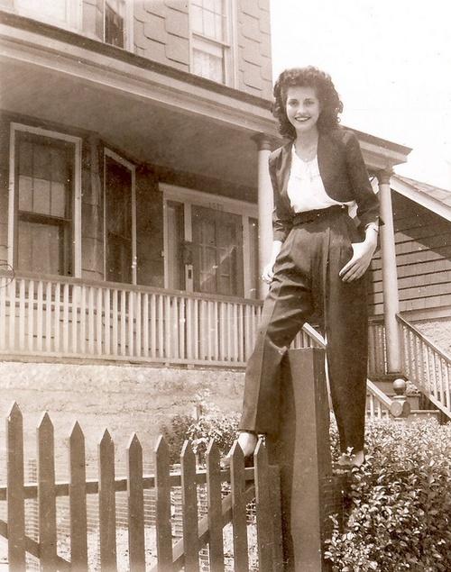 1940's women in pants
