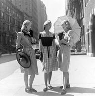 crepe rayon 1940's