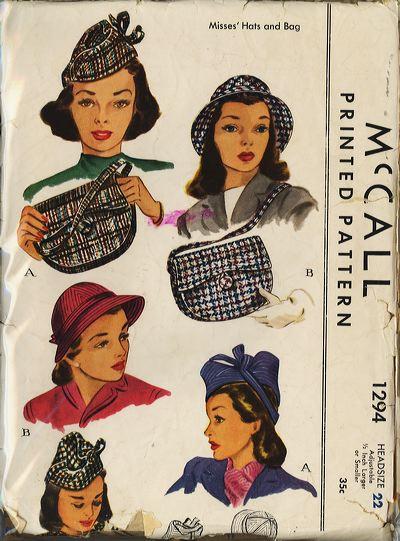 1940s vintage Hats
