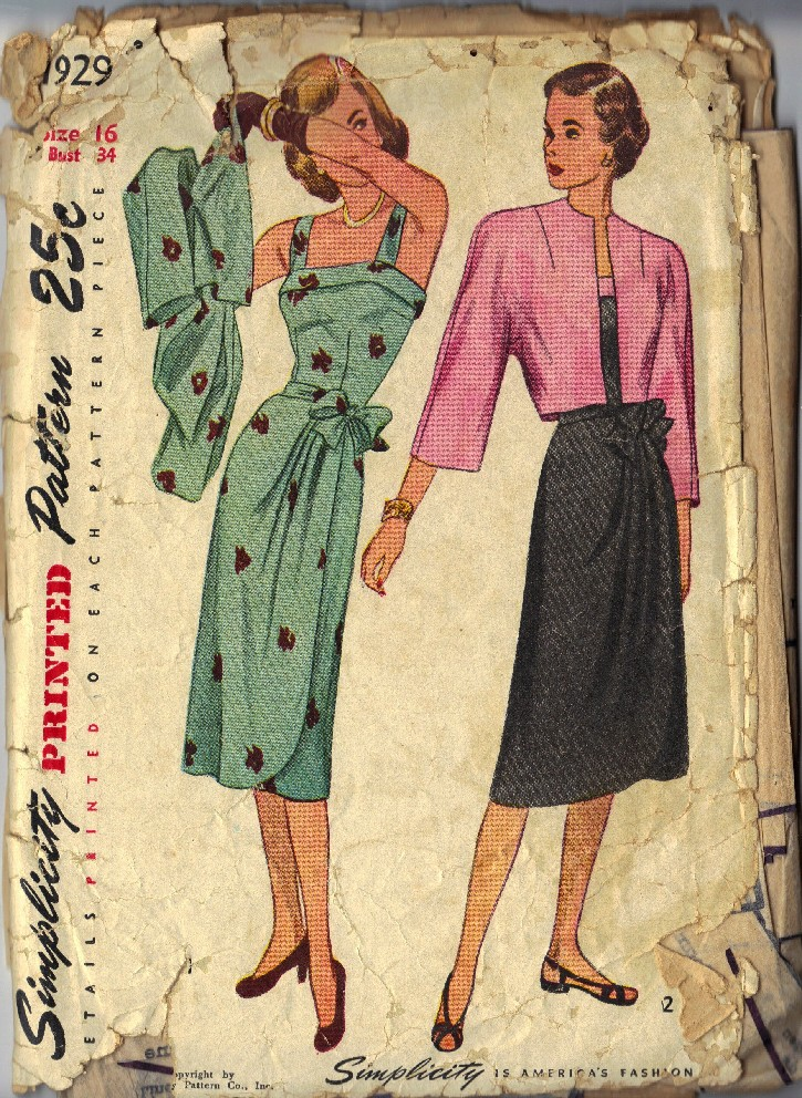 1940s sarong dress