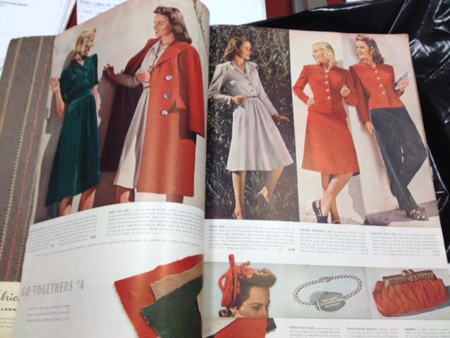 JR Velvet 1940's dress