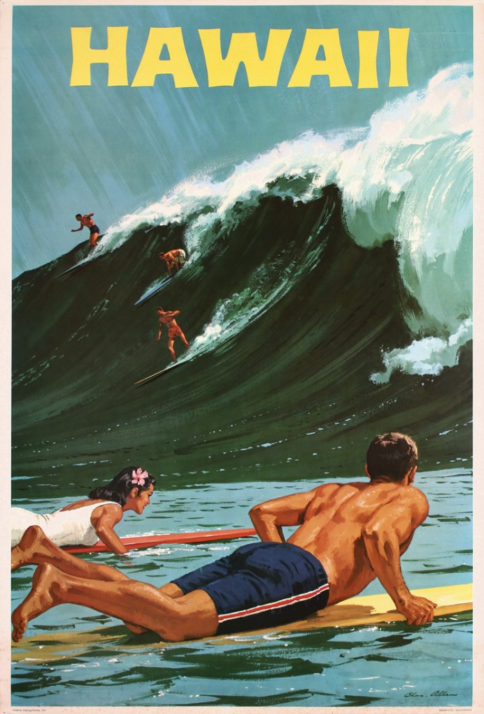 """""""Vintage Tropical Travel Posters""""-Time to dream of Hot"""