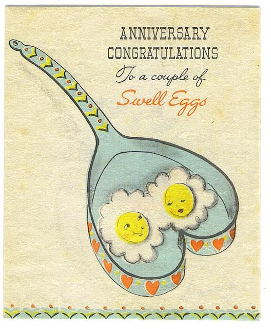 Vintage Anniversary Card 83