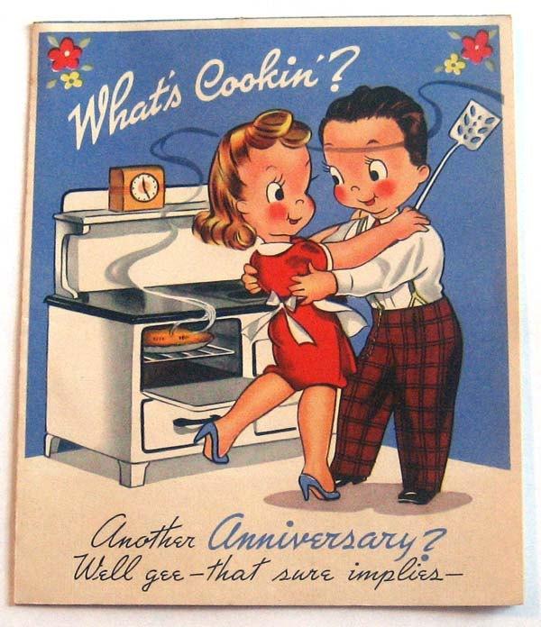 Vintage Wedding Card Unused Greeting Card 1960s 1950s: Vintage Wedding Anniversary Cards
